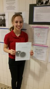 Congratulations Sarah for winning a Silver Medal at the National Level from Scholastic Writing contest.
